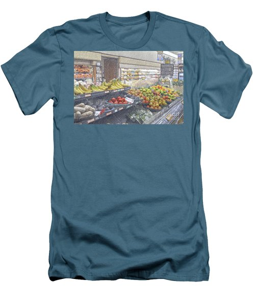 Men's T-Shirt (Slim Fit) featuring the photograph Supermarket Produce Section by David Zanzinger