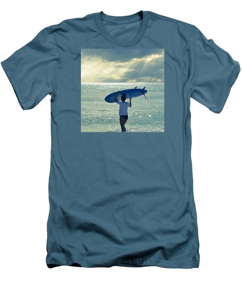 Surfer Girl Square Men's T-Shirt (Slim Fit) by Laura Fasulo