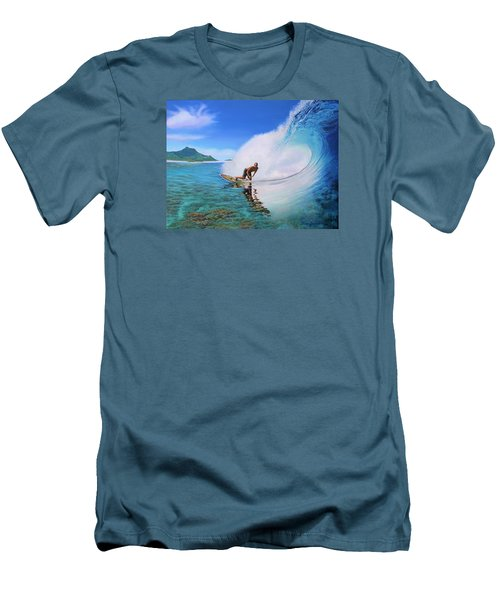 Surfing Dan Men's T-Shirt (Slim Fit) by Jane Girardot