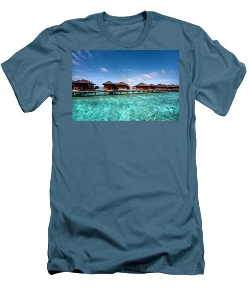 Men's T-Shirt (Athletic Fit) featuring the photograph Surrounded By Blue by Jenny Rainbow