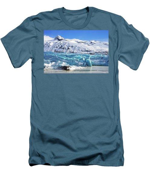 Svinafellsjokull Glacier Iceland Men's T-Shirt (Slim Fit) by Matthias Hauser