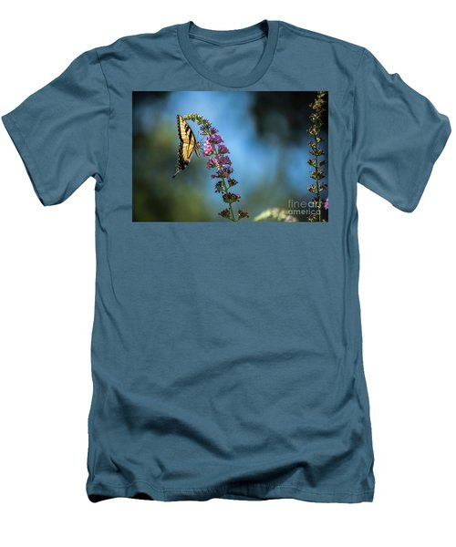 Men's T-Shirt (Slim Fit) featuring the photograph Swallowtail Lookout by Judy Wolinsky