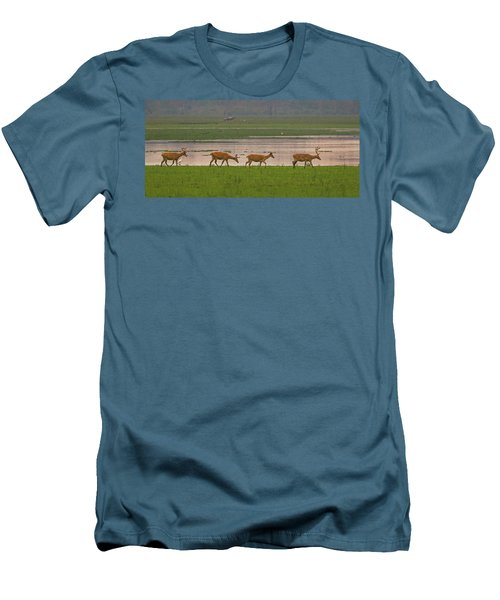 Swamp Deers Men's T-Shirt (Athletic Fit)