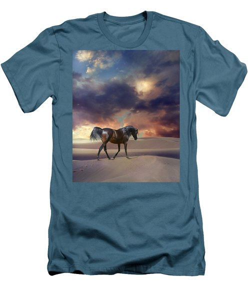 Swan Of Desert Men's T-Shirt (Athletic Fit)