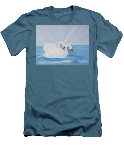 Swans On Open Water Men's T-Shirt (Athletic Fit)