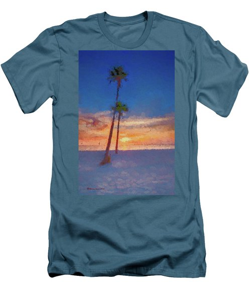 Men's T-Shirt (Slim Fit) featuring the photograph Swaying Palms by Marvin Spates