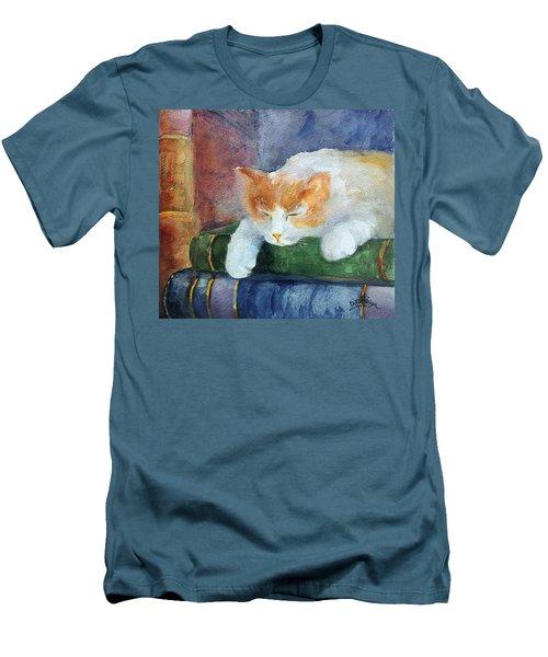 Sweet Dreams On The Books Men's T-Shirt (Slim Fit) by Faruk Koksal