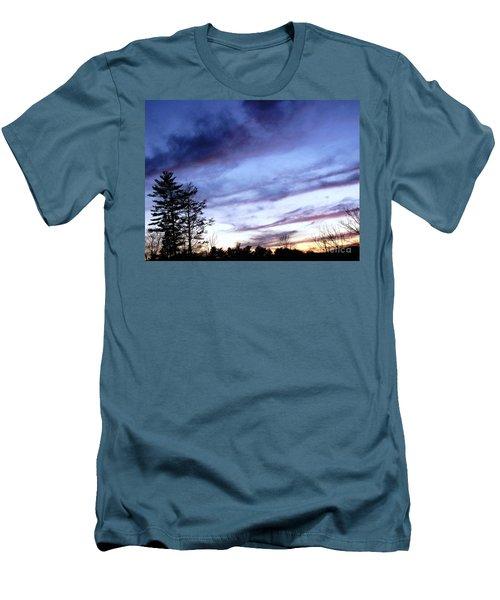 Swept Sky Men's T-Shirt (Slim Fit) by Melissa Stoudt