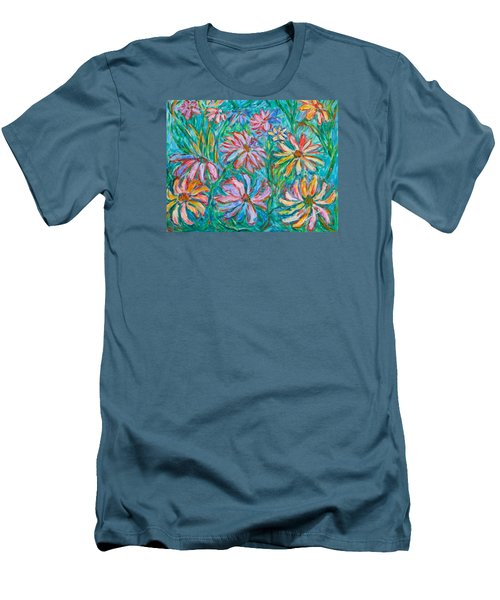 Swirling Color Men's T-Shirt (Athletic Fit)