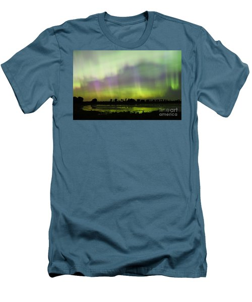 Men's T-Shirt (Slim Fit) featuring the photograph Swirling Curtains 2 by Larry Ricker