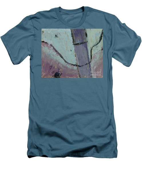 Men's T-Shirt (Slim Fit) featuring the painting Swiss Roof by Paul McKey