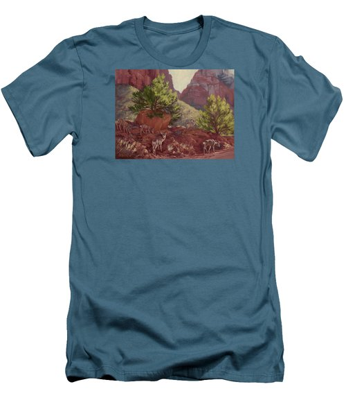 Switchback Stop For Wildlife Men's T-Shirt (Slim Fit) by Jane Thorpe