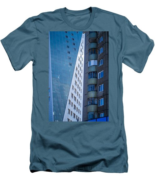 Men's T-Shirt (Slim Fit) featuring the photograph Synergy Between Old And New Apartments by John Williams