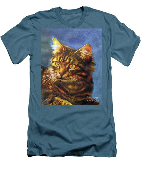 Tabby Blue Men's T-Shirt (Athletic Fit)