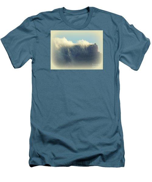 Table Rock With Cloud 2 Men's T-Shirt (Slim Fit) by John Potts