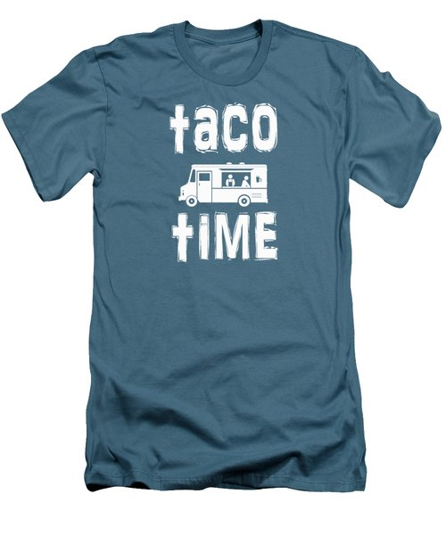 Taco Time Food Truck Tee Men's T-Shirt (Slim Fit) by Edward Fielding