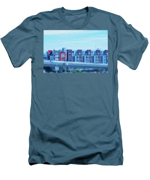 Tacoma Blues - Cityscape Art Print Men's T-Shirt (Slim Fit) by Jane Eleanor Nicholas