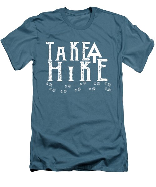 Take A Hike  Men's T-Shirt (Slim Fit) by Heather Applegate