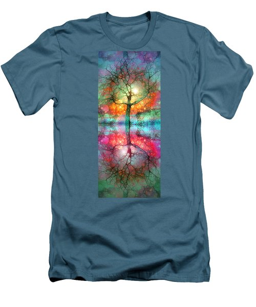 Men's T-Shirt (Slim Fit) featuring the digital art Take The Light This Life Has To Offer by Tara Turner