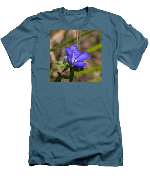 Tall Hydrolea Wildflower Men's T-Shirt (Slim Fit) by Christopher L Thomley