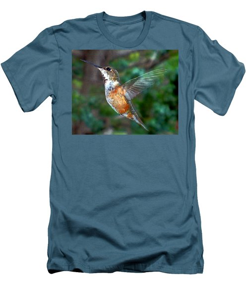 Men's T-Shirt (Slim Fit) featuring the photograph Tan Hummingbird by Joseph Frank Baraba
