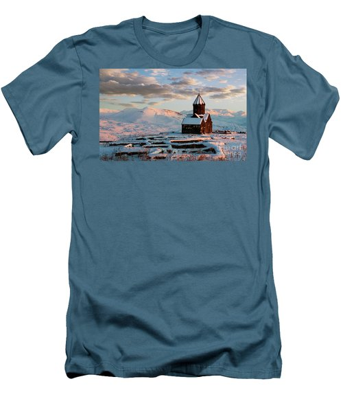 Tanahat Monastery At Sunset In Winter, Armenia Men's T-Shirt (Athletic Fit)