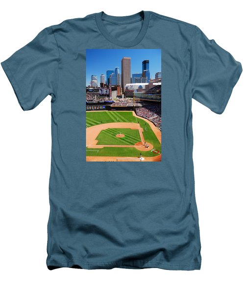 Target Field, Home Of The Twins Men's T-Shirt (Slim Fit) by James Kirkikis