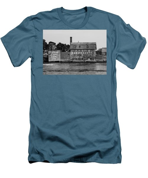 Tarr And Wonson Paint Manufactory In Black And White Men's T-Shirt (Slim Fit) by Brian MacLean