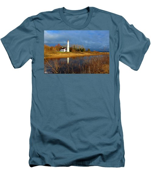 Sturgeon Point Lighthouse Men's T-Shirt (Athletic Fit)