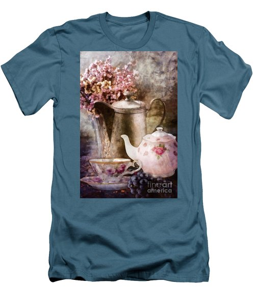 Tea And Grapes Men's T-Shirt (Slim Fit) by Mo T