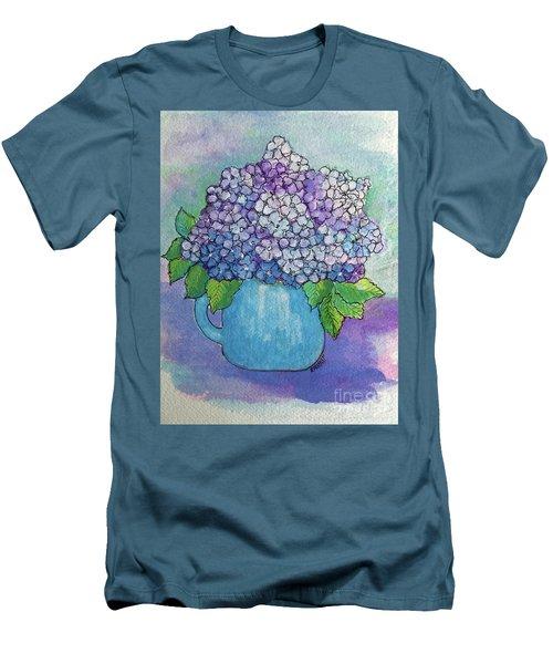 Teapot Hydranger Men's T-Shirt (Slim Fit) by Rosemary Aubut