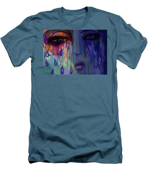 Men's T-Shirt (Slim Fit) featuring the digital art Tearful  Dream by Diana Riukas