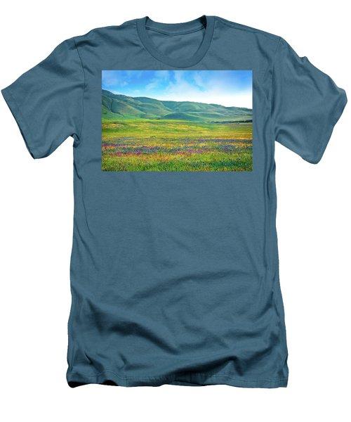 Tejon Ranch Wildflowers Men's T-Shirt (Athletic Fit)