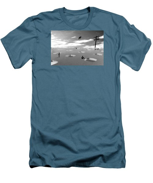 Men's T-Shirt (Slim Fit) featuring the photograph Telephone Line by Christopher Woods