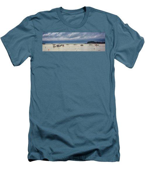 Men's T-Shirt (Slim Fit) featuring the photograph Tenants Harbor by Rick Berk