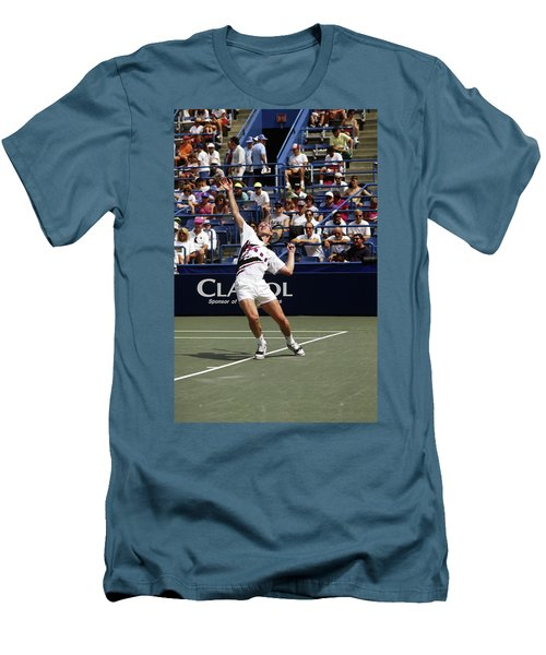 Tennis Serve Men's T-Shirt (Slim Fit) by Sally Weigand