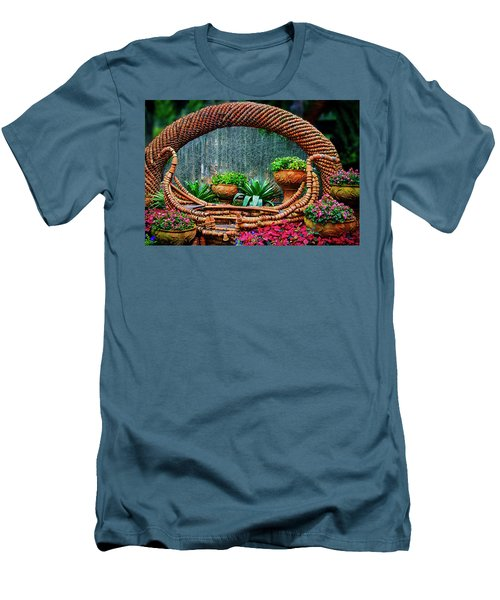 Men's T-Shirt (Slim Fit) featuring the photograph Terra Cotta Pot Gondola Art by Joseph Hollingsworth