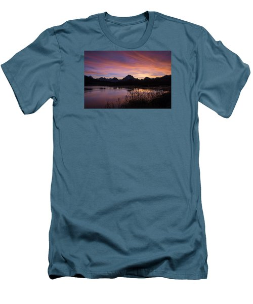 Teton Sunset Men's T-Shirt (Slim Fit) by Gary Lengyel