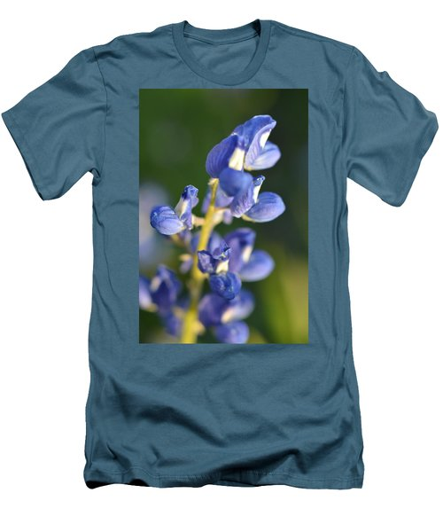 Texas Blue Bonnet Details 1 Men's T-Shirt (Athletic Fit)