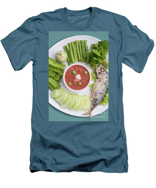 Men's T-Shirt (Slim Fit) featuring the photograph Thai Chili Paste by Atiketta Sangasaeng