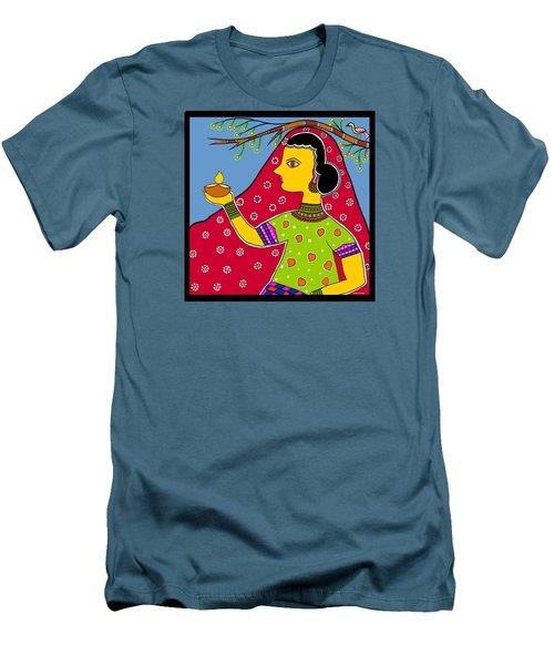 Thamasoma Jyothirgamaya Men's T-Shirt (Slim Fit) by Latha Gokuldas Panicker