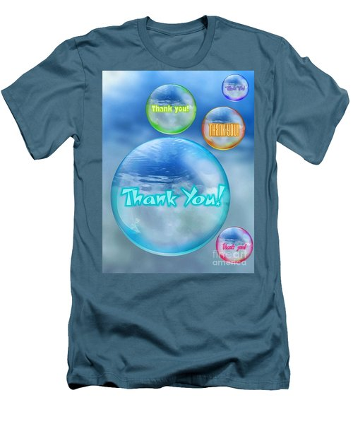 Thank You Bubbles Men's T-Shirt (Athletic Fit)