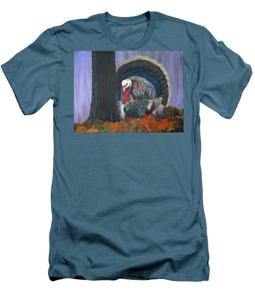 Thanksgiving Turkey Men's T-Shirt (Athletic Fit)