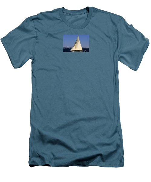 Men's T-Shirt (Slim Fit) featuring the photograph The 12 Meter Newport by Tom Prendergast