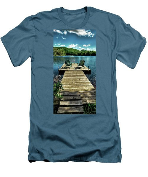 The Adirondacks Men's T-Shirt (Slim Fit) by David Patterson