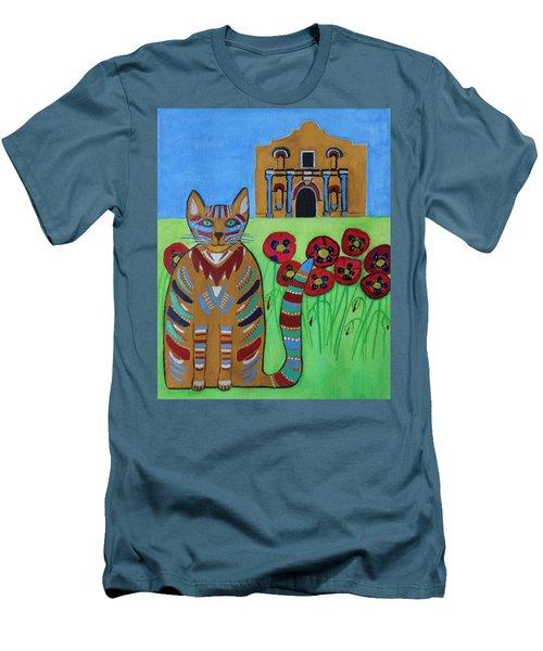 the Alamo Cat Men's T-Shirt (Athletic Fit)
