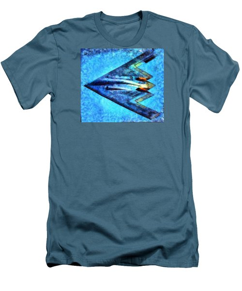 Men's T-Shirt (Slim Fit) featuring the painting The B-53bomber by Mario Carini