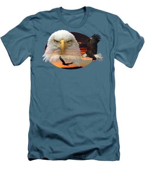 The Bald Eagle 2 Men's T-Shirt (Slim Fit) by Shane Bechler