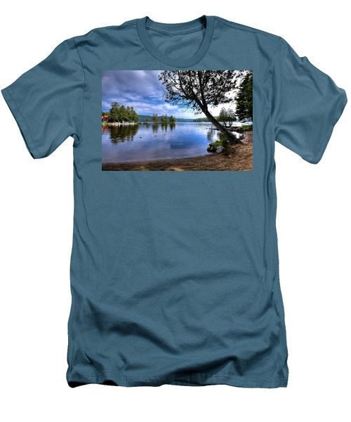 Men's T-Shirt (Athletic Fit) featuring the photograph The Beach At Covewood Lodge by David Patterson