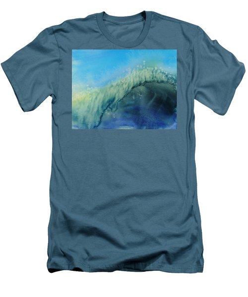 The Big Curl Men's T-Shirt (Slim Fit) by Susan Duda